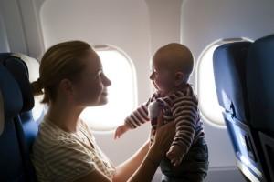 С ребенком в самолете